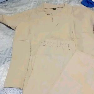 NWOT Men's Tan Linen Suit Size M